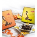 Scorzette candied orange peels coated with Dark Chocolate